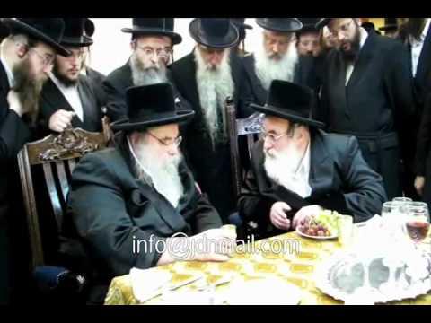 Visnitz Rebbe R' Mendel Visits The  Belzer Rebbe Sivan 5772