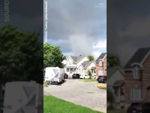 This is the tornado that has caused 'significant damage' in Quebec #shorts
