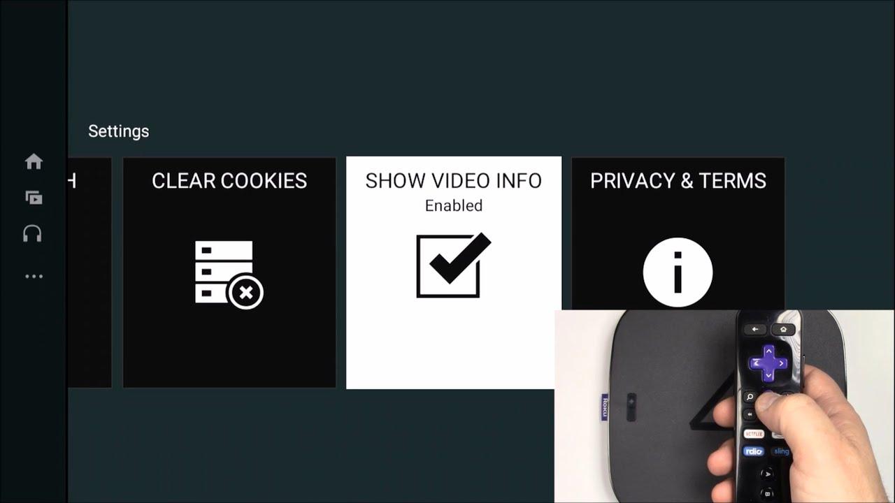 Youtube App Video Resolution Display Stats Roku 4 (4400) Roku 3 Roku  Streaming Stick 3500R