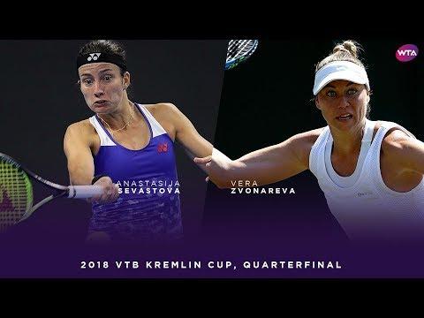 Anastasija Sevastova vs. Vera Zvonareva | 2018 VTB Kremlin Cup Quarterfinal | WTA Highlights