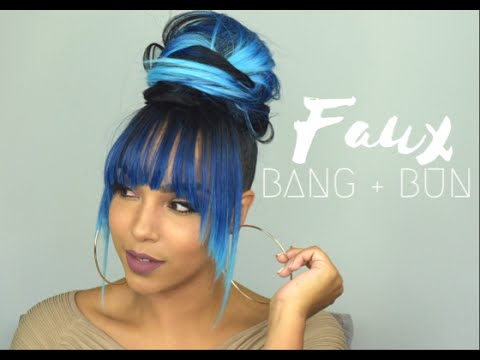 Faux Bangs Tutorial Blue Mermaid Ombre Hair