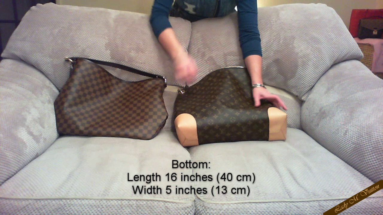 5493fa10f803 Comparison video Louis Vuitton Delightful MM   Berri MM - YouTube