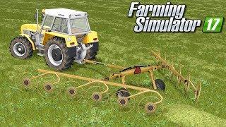 Zgrabianie i belowanie siana - Farming Simulator 17 | #63