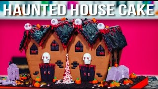 How To Make A HALLOWEEN HAUNTED HOUSE CAKE! M...