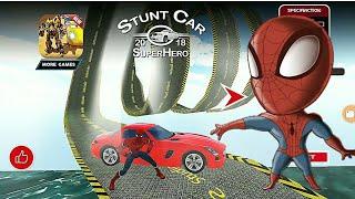 FUN SUPER HERO CAR RACING: STUNT RACE (SPIDERMAN CAR)