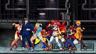 Team Shiki Nanaya vs Team Super Mario 4v4 Patch MUGEN 1.0 Battle!!!