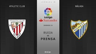 Rueda de prensa Athletic Club vs Málaga