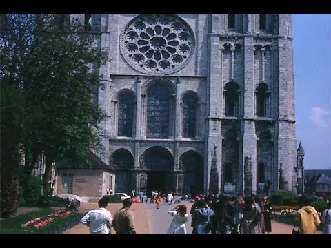 1970 - Exterior of Chartres Cathedral - Notre-Dame de Chartres, France