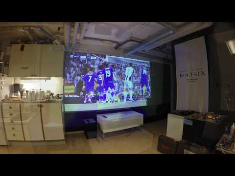 Optoma Dura Core Laser projector on Evo reflective screen paint