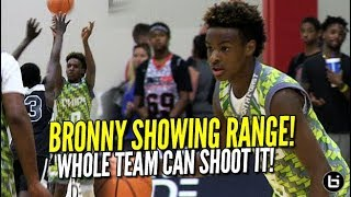 LeBron James Jr SHOWS RANGE! North Coast Blue Chips CAN SHOOT! Full Highlights! Midwest Mania!