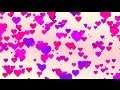 Little pink romantic love hearts - HD animated background #41