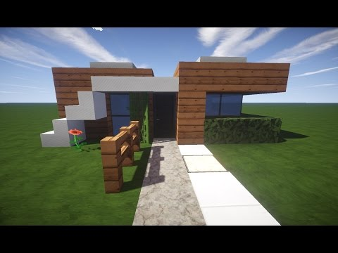 minecraft haus tutorial 4 simples modernes haus deut doovi. Black Bedroom Furniture Sets. Home Design Ideas