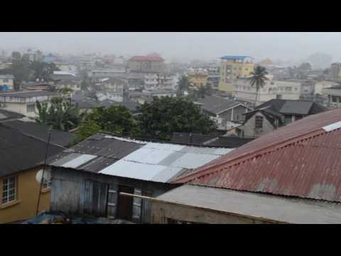 Rain in Freetown YMCA hostel