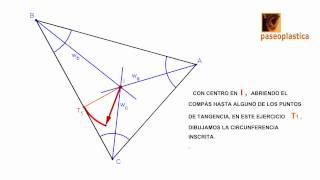 Incentro y circunferencia inscrita de un triángulo