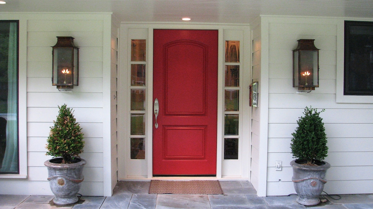 Front Door With Sidelights And Arched Transom Ideas