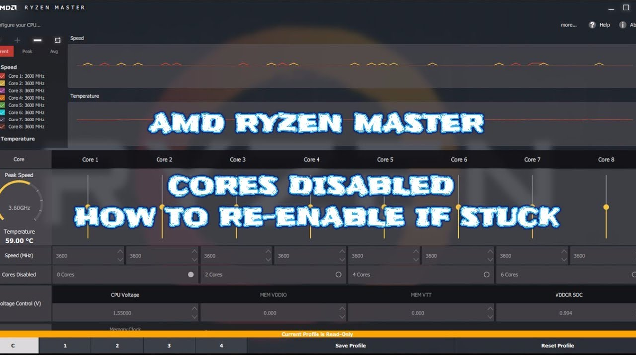 Ryzen Master Cores stuck disabled FIX