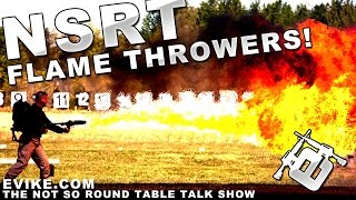 """Airsoft """"not So Round Table"""" Flame Throwers!?! Ep. 44 - Evike Tv"""