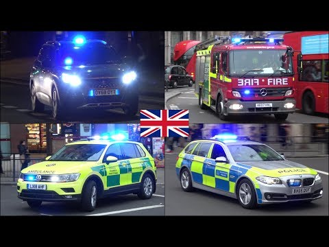 Large Police Convoy + New Emergency Vehicles responding in London