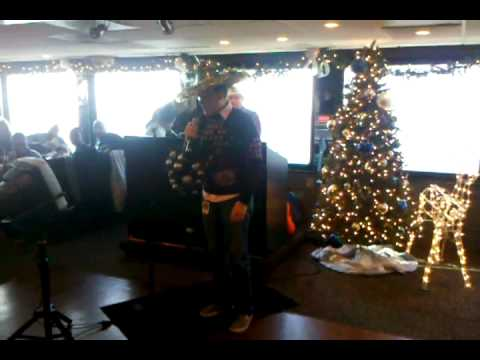 Carl Sings Bust A Move on The Spirit of Norfolk 12/20/2010