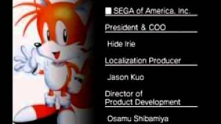 Sonic Mega Collection Plus Credits