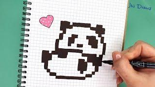 Рисуем ПАНДУ Рисунки По Клеточкам ПАНДА КАК НАРИСОВАТЬ Panda PIXEL ART