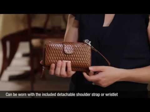 WalletBe Women's Slim Leather RFID Smartphone Wallet Purse