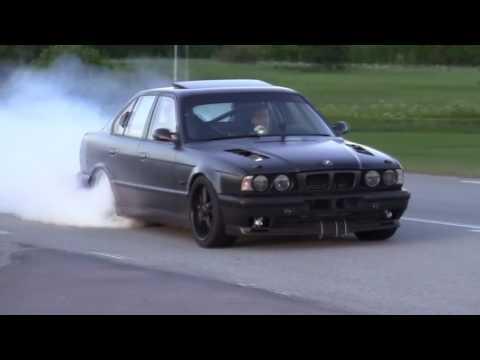 BMW M5 e34 - дрифт подборка.