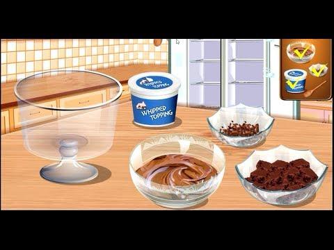 Cook Chocolate Trifle With Sara - Sara Cooking Class - Fun Cooking Games