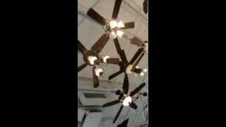 Quick Walkthrough of ceiling fan aisles in Menards