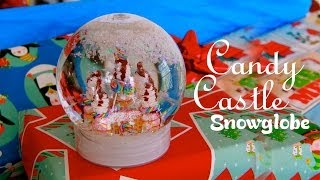 Candy Castle - How To Make A Miniature Gingerbread House Snow Globe - DIY Thumbnail