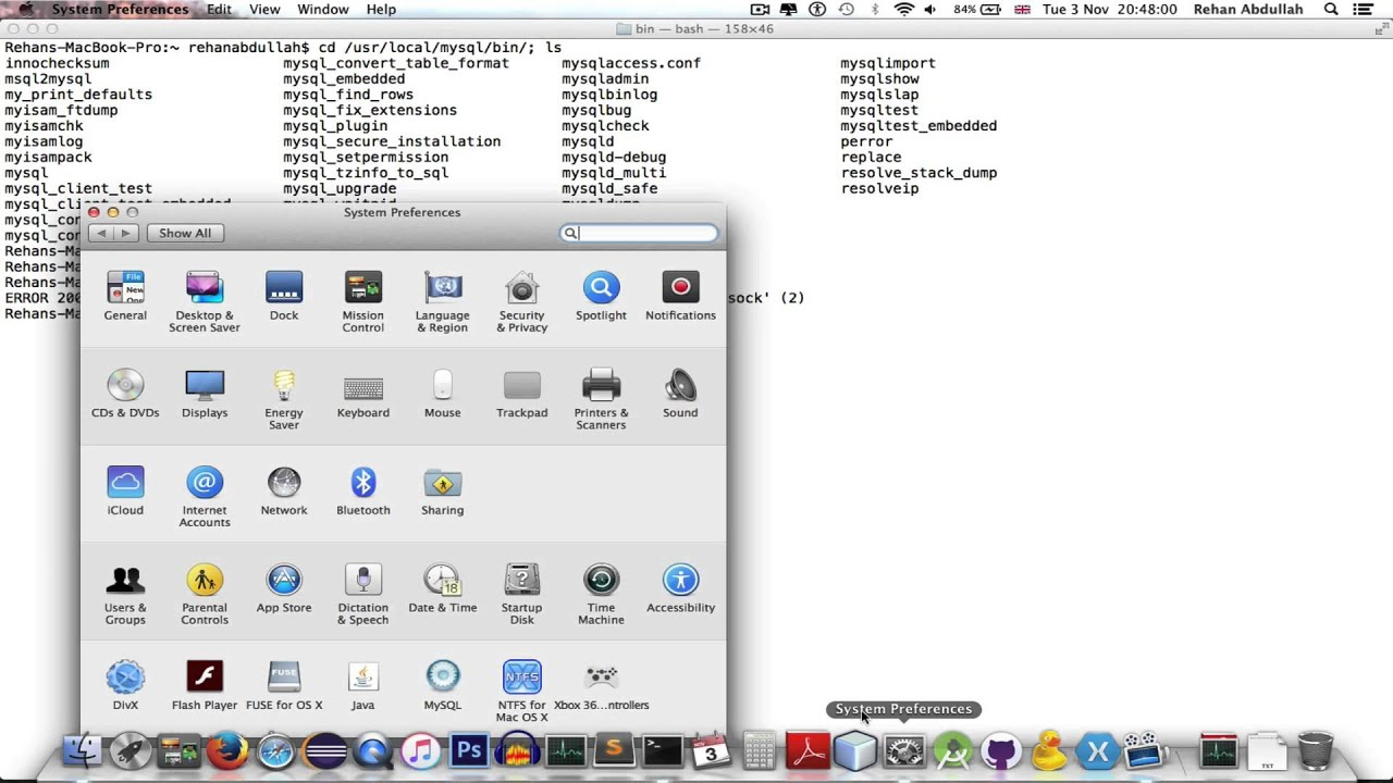 How to connect to MySQL from Terminal on a Mac