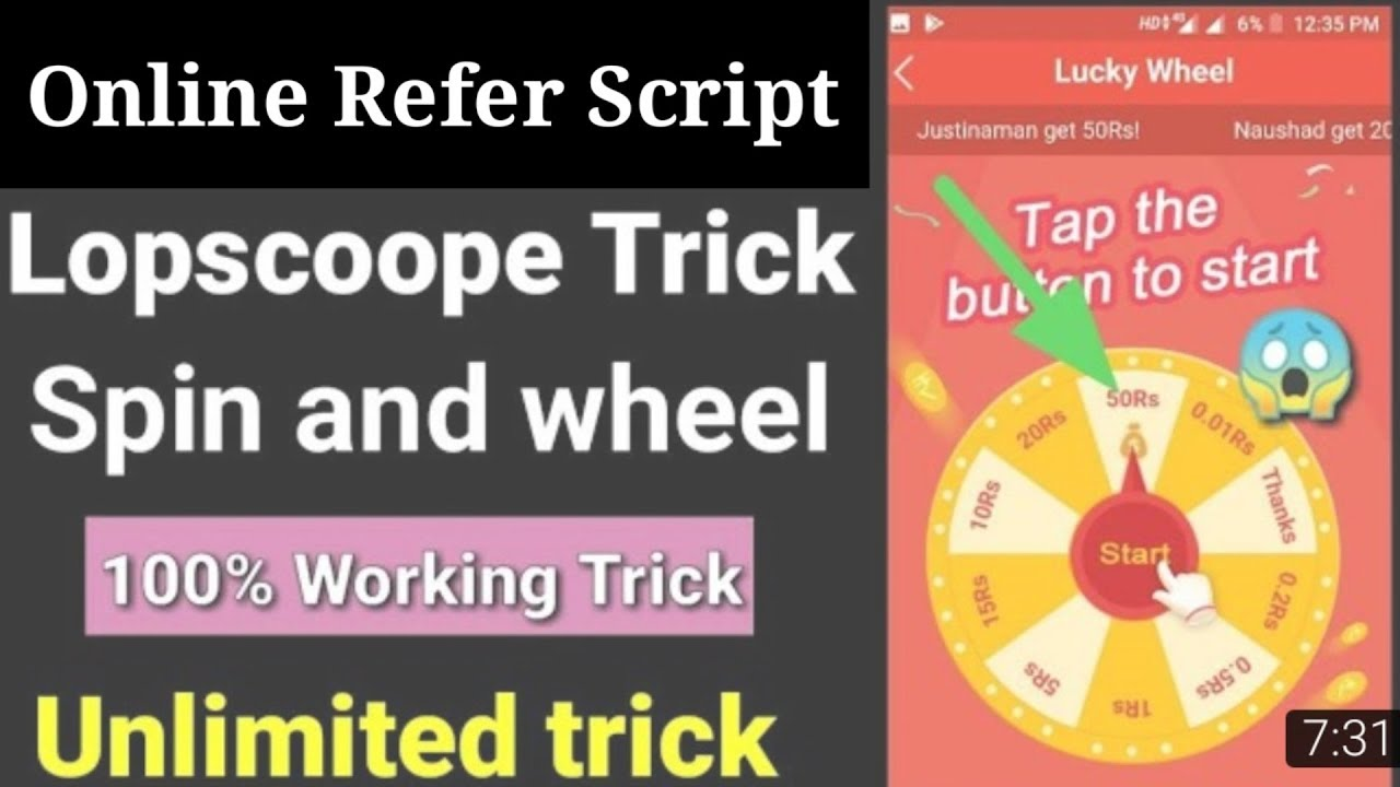 Lopscoop Online Refer Script Get Unlimited Spin In 1 Second