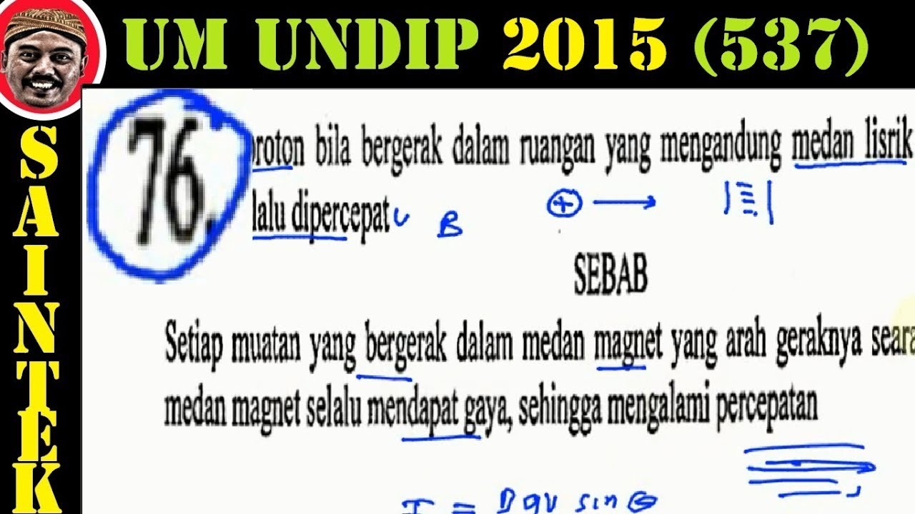 UM UNDIP 2015 Kode537, Fisika, Pembahasan No 76, Gerakan