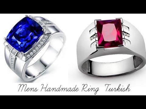 Mens Handmade Ring Design || Turkish Handmade Silver Men Ring Design Collection