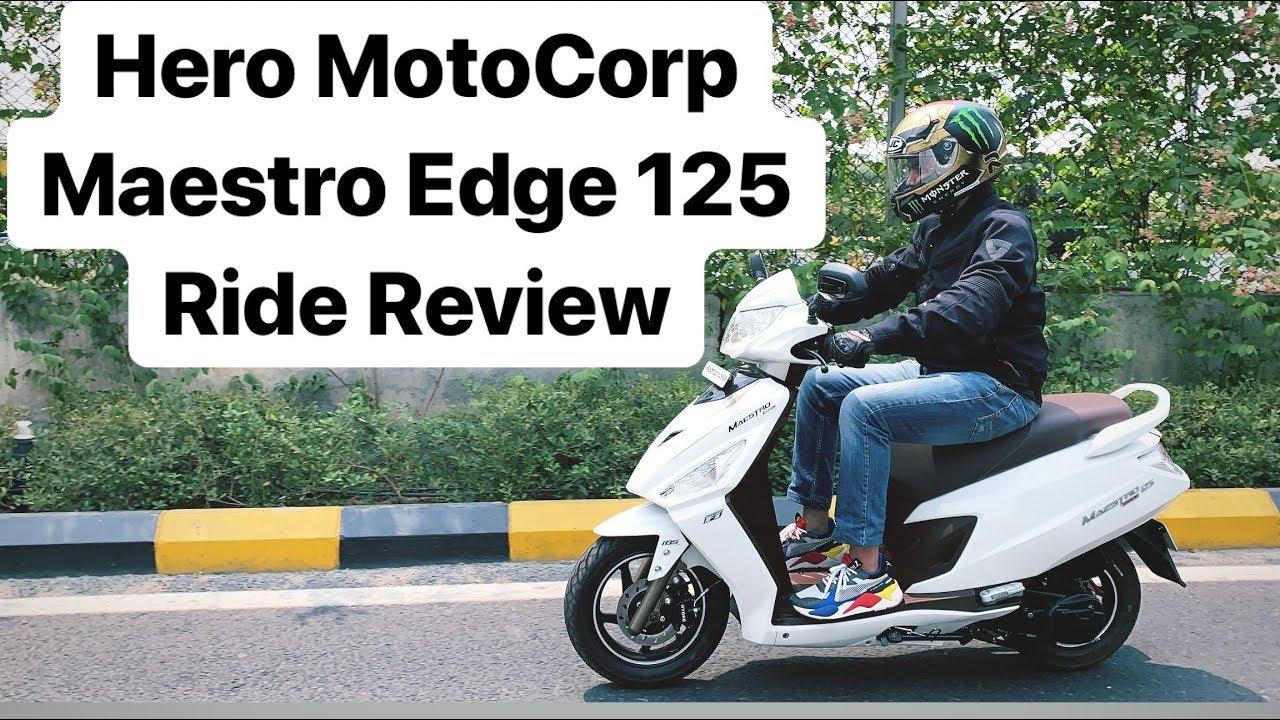2019 Hero MotoCorp Maestro Edge 125 - Ride Review (Hindi + English)