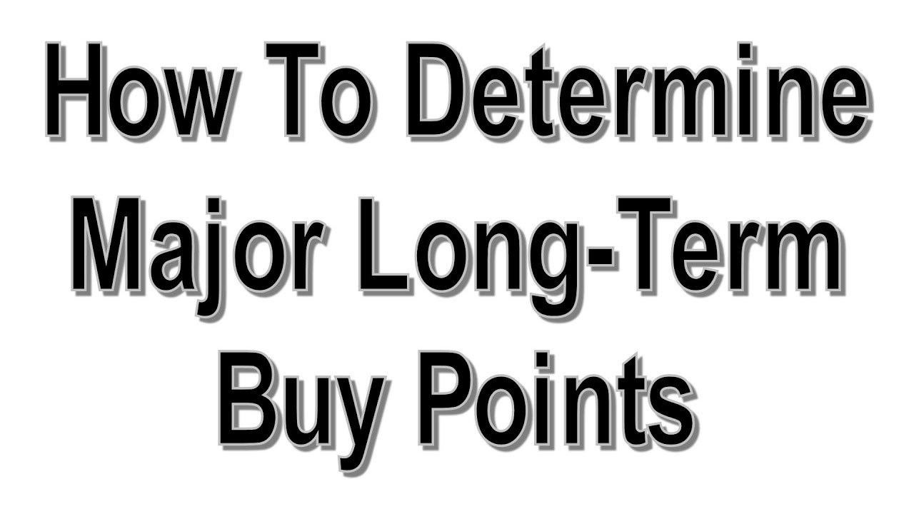 How To Determine Major Long Term Buy Points - #701