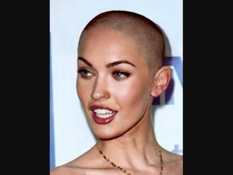 head shaved Megan fox