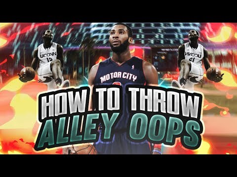 HOW TO THROW ALLEY OOPS IN NBA2K18!!!