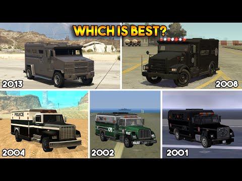 GTA : WHICH IS BEST SWAT VAN? (GTA 5, 4, SAN, VC, 3)
