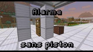 [Minecraft] Tuto redstone | #11 Alarme sans piston [FR]