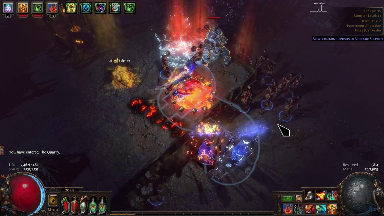 Path of Exile Delve 3 4 How to farm 5000 Voltaxic Sulphite in less that an  hour