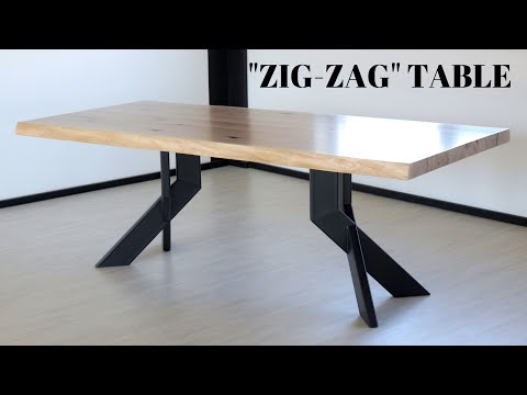 Making An Oak And Steel Dining Table
