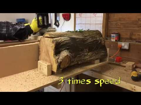 Electric chainsaw mill build and experiment.