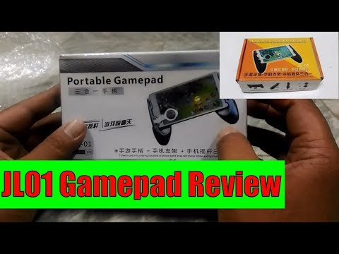 JL01 Mobile Gamepad Review For Mobile Legends PUBG ROS Portable For 4.5