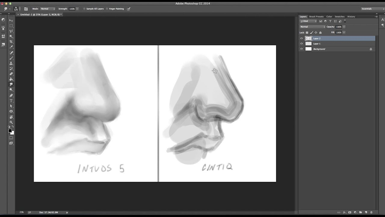 how to draw better with an intuos