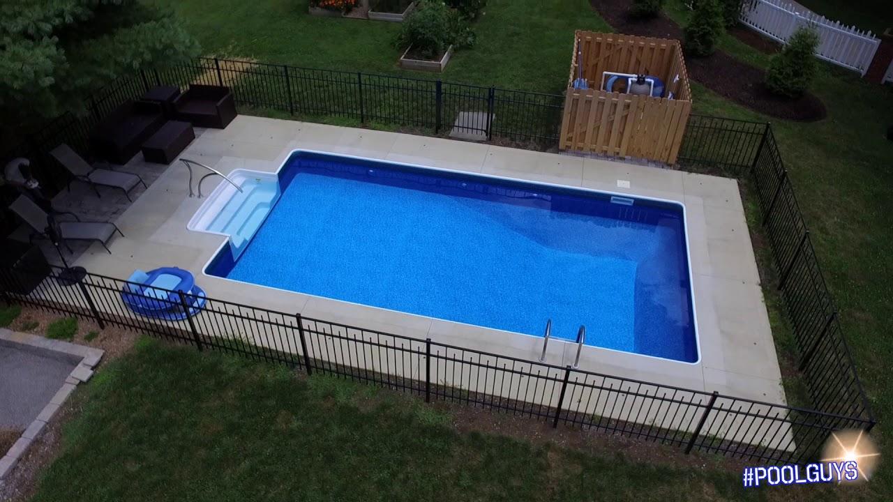 Radiant Swimming Pool Custom Finished Pool 14x28 Poolguys Youtube