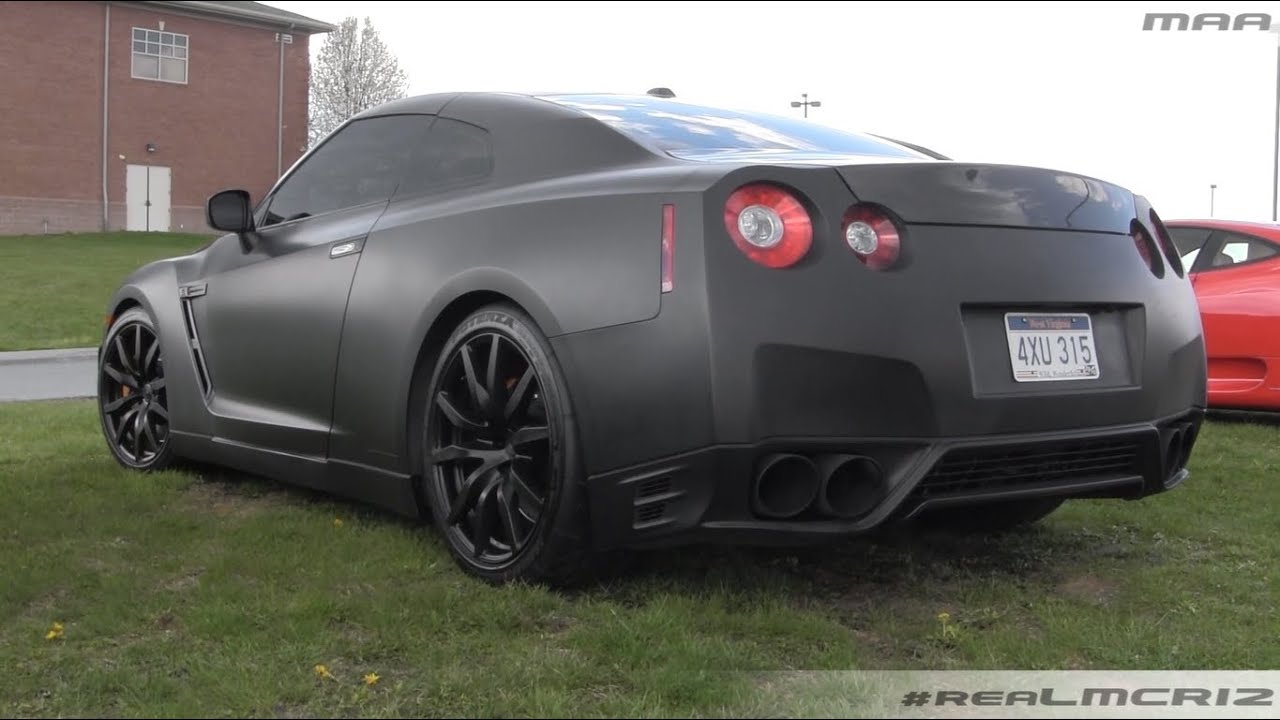 Hershey Car Show >> Murdered Out Nissan GTR R35 - Walkaround - YouTube