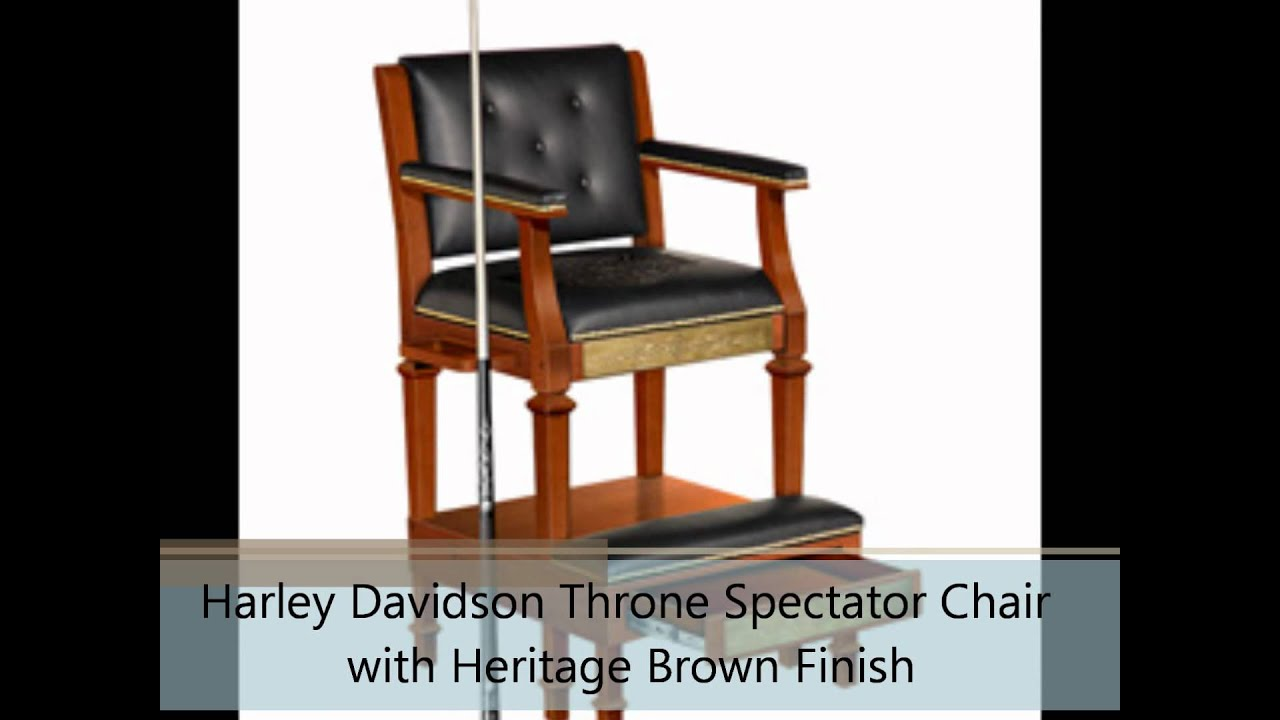 Harley Davidson Throne Spectator Chair With Heritage Brown Finish   YouTube