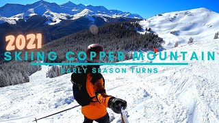 Skiing At Copper Mountain // Early Season Turns // 2021