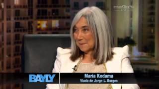 Jaime Bayly entrevista a María Kodama viuda de Jorge Borges.